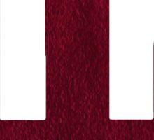 IU Suede Logo Sticker