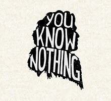 You know nothing, quote (black) Hoodie