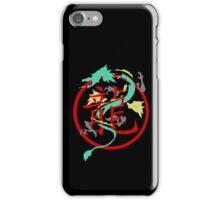 Beautiful Dragon weaved through Chinese dragon symbol iPhone Case/Skin
