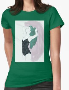 sketch drawing, figure girl illustration Womens Fitted T-Shirt