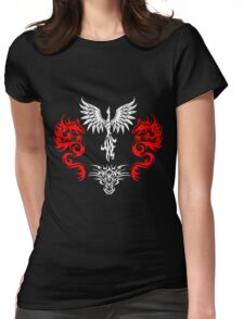 Phoenix Dragon Designs  Womens Fitted T-Shirt