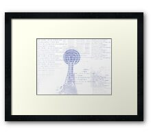 Hello Seattle Typography  Framed Print