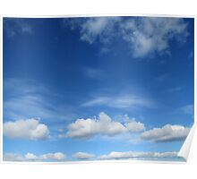 Spring is finally here and beautiful white clouds Poster