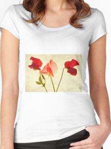 Three peas, no pod Women's Fitted Scoop T-Shirt