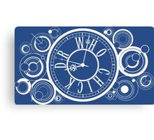 Who Chick Clock Canvas Print