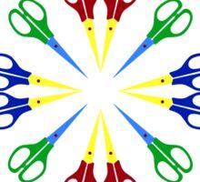 Scissors Design Sticker