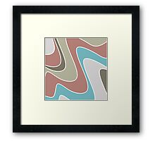 silly waves  Framed Print