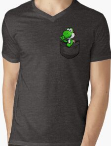 Pocket Yoshi Mens V-Neck T-Shirt