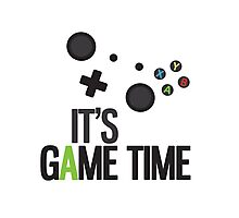 It's Game Time Photographic Print