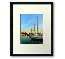 Sailing in Greece Framed Print