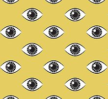 Eyes Wide Open - Mustard Yellow by daisy-beatrice
