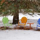 Chairs in the Snow by Tom  Reynen