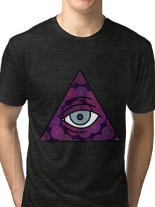 Illuminati Triangle Eye Mandala  Tri-blend T-Shirt