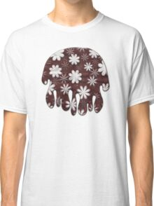 Melted Chocolate and Milk Flowers Pattern Classic T-Shirt