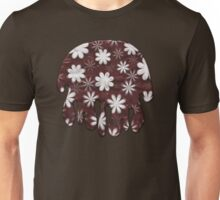 Melted Chocolate and Milk Flowers Pattern Unisex T-Shirt
