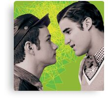 klaine green Canvas Print
