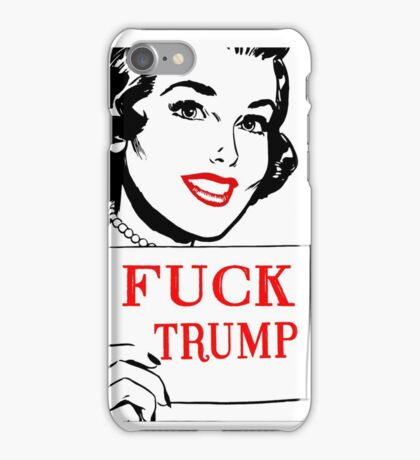 Fuck Trump - Retro  iPhone Case/Skin
