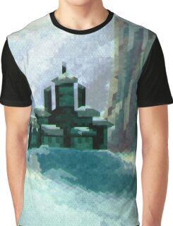 Snowy Castle Graphic T-Shirt