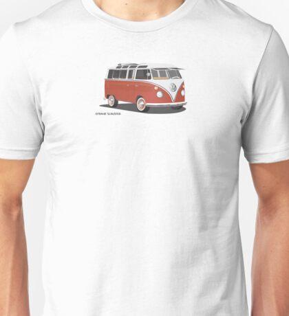 Hippie 21 Window VW Bus Red/White  Unisex T-Shirt