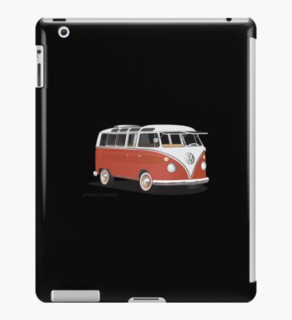 Hippie 21 Window VW Bus Red/White  iPad Case/Skin