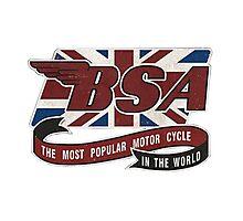 BSA MOTORCYCLE VINTAGE ART Photographic Print