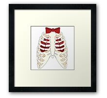 Time Lord Have Two Hearts - Doctor Who Skellington Framed Print