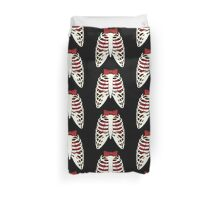 Time Lord Have Two Hearts - Doctor Who Skellington Duvet Cover