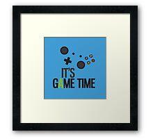 It's Game Time - BLUE Framed Print