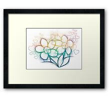 Colorful flowers Framed Print