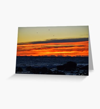 Sky At Dawn   Montauk Point State Park, New York Greeting Card