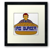 Internal Revenue Service Burger Framed Print