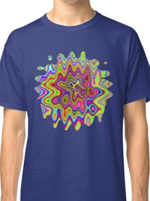 Psychedelic Glowing Colors Pattern Classic T-Shirt