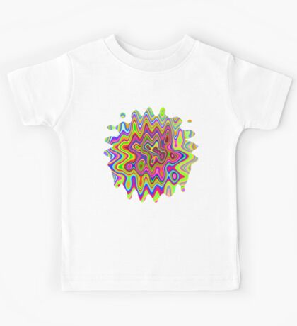 Psychedelic Glowing Colors Pattern Kids Tee
