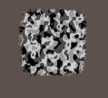Grey Camouflage Army Military Pattern Unisex T-Shirt