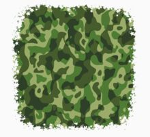 Green Camouflage Army Military Pattern One Piece - Short Sleeve