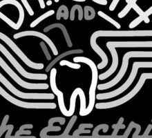 Dr.Teeth and the Electric Mayhem - MonoChrome Logo Design Sticker