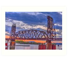 Choo Choo Bridge Art Print