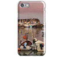 Love boats under a pink sky iPhone Case/Skin