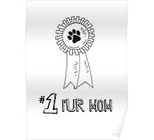 Number One Fur Mom Poster