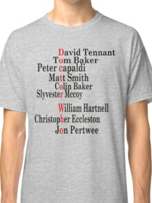 Doctor Who edit Classic T-Shirt