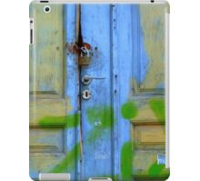 Greek blue door iPad Case/Skin
