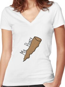 Mr Pointy - Buffy Women's Fitted V-Neck T-Shirt