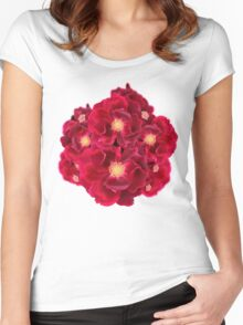 Floral Ink Women's Fitted Scoop T-Shirt