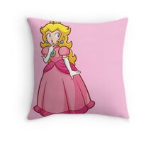 Princess Peach! - Surprised Throw Pillow