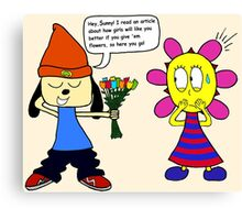 Parappa: An Attempt at Romance Canvas Print