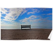 Bench - Bens Point | Orient, New York Poster