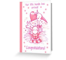 New born baby card Greeting Card