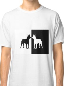 Black white dogs Classic T-Shirt