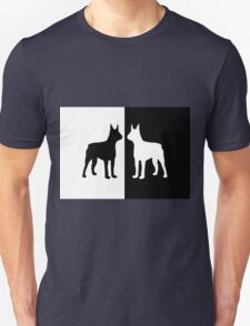 Black white dogs Unisex T-Shirt