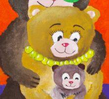 Teddy bear family Sticker